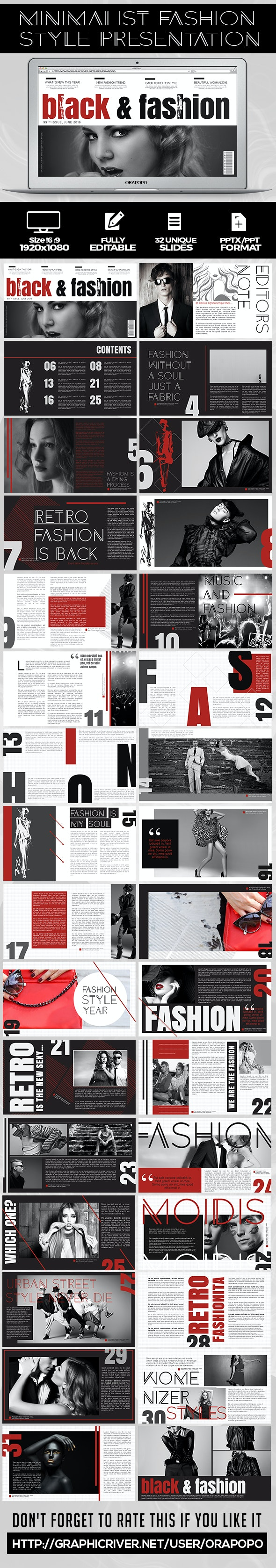 Minimalist Fashion Style Presentation - Creative PowerPoint Templates