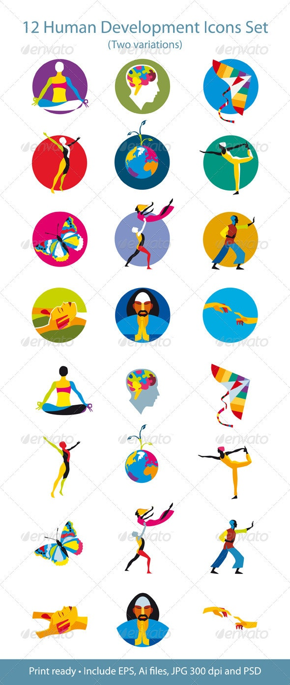 Human Development Icons Set - Health/Medicine Conceptual