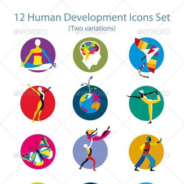 Human Development Icons Set