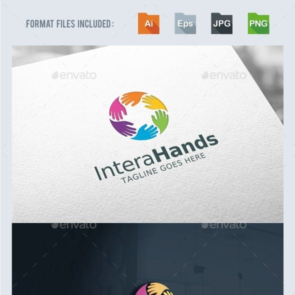 Interaction - Hands Logo Template