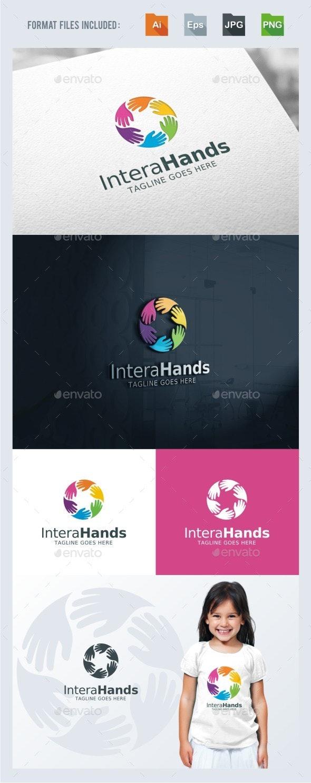Interaction - Hands Logo Template - Humans Logo Templates
