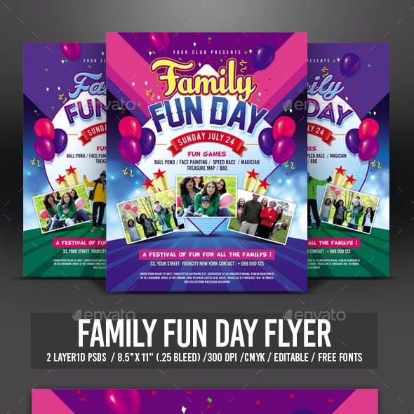 Family Fun Day Flyer