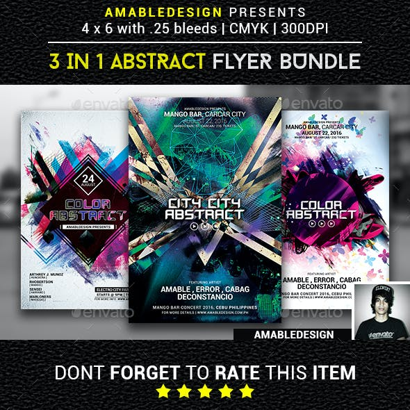 3 in 1 Abstract Flyer/Poster Vol.2