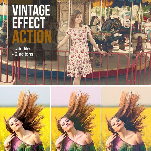 Vintage Photoshop Action Pack