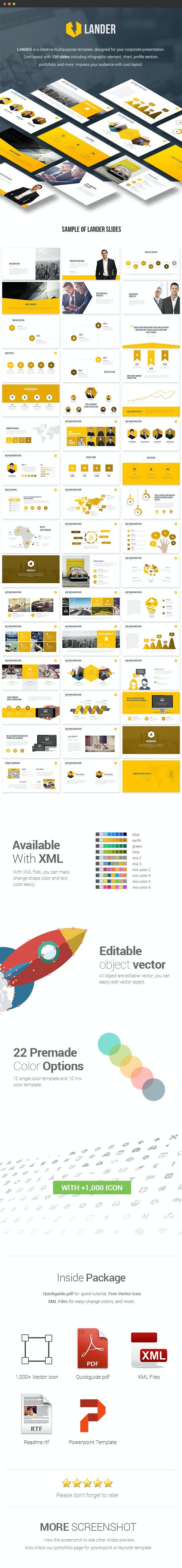 Lander - Powerpoint Template - Pitch Deck PowerPoint Templates