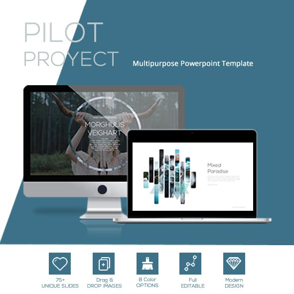 PILOT Proyect powerpoint template