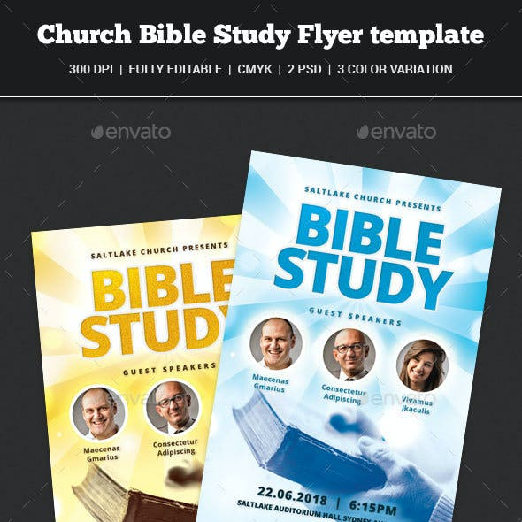Church Bible Study Flyer