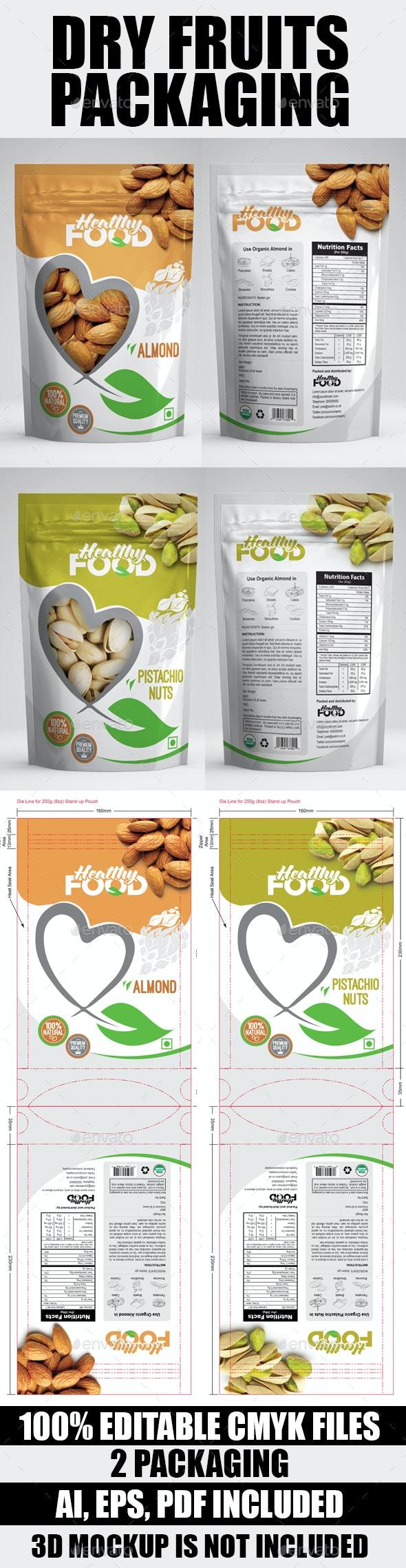 Dry Fuits Bag Packaging - Packaging Print Templates
