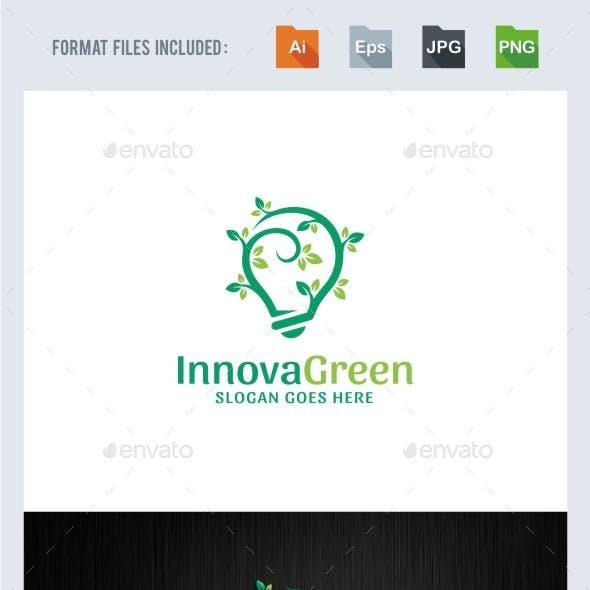 Green Innovation - Bulb Logo Template