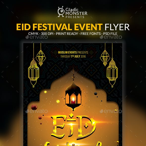 Eid Festival Event Flyer