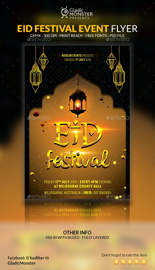 Eid Festival Event Flyer - Events Flyers
