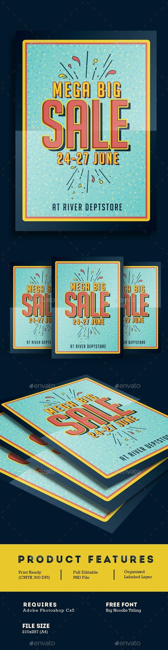 Big Sale Promotion Flyer Poster - Flyers Print Templates