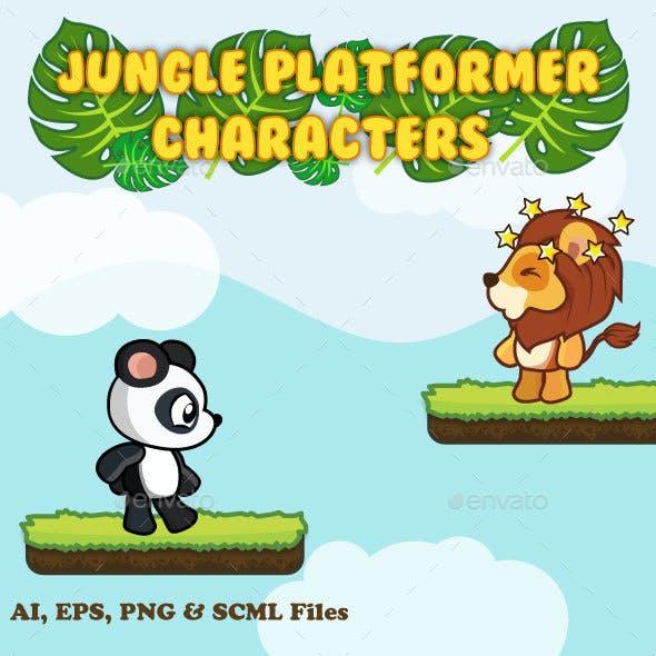 Jungle Platformer Characters