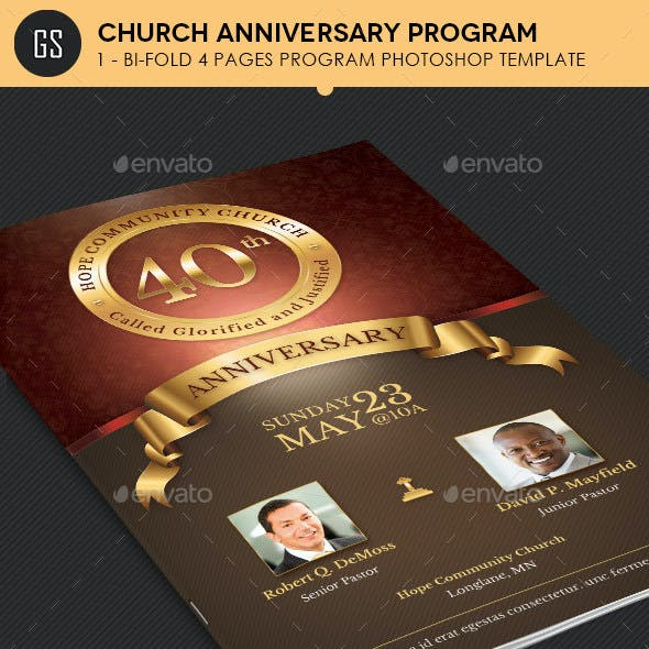 Church Anniversary Program Template