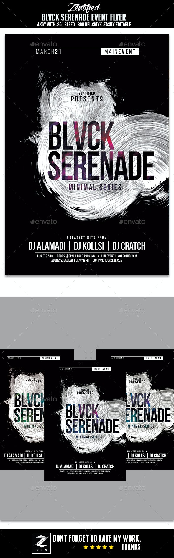 Blvck Serenade Event Flyer - Events Flyers