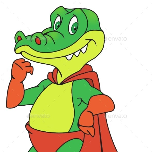 Crocodile in Raincoat