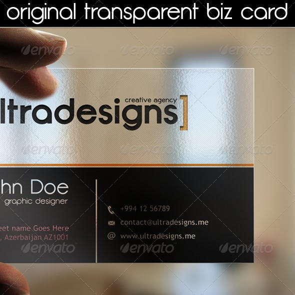 Original Transparent Business Card
