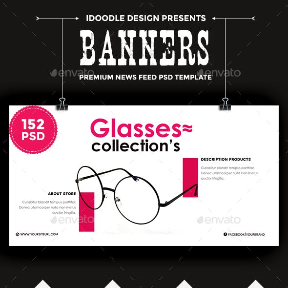Promotion NewsFeed Ads - 152 PSD [02 Size Each]