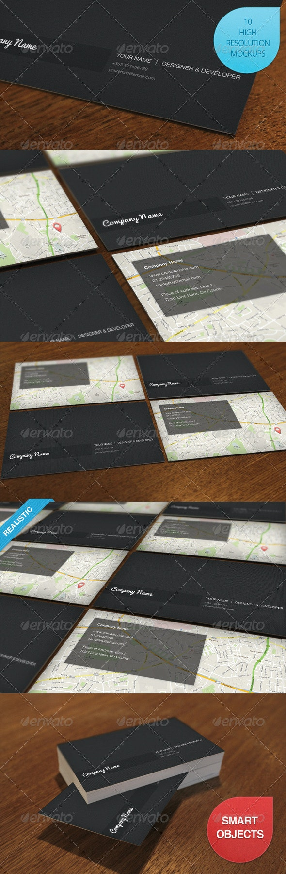 10 Photo Realistic Business Card Mockups - Business Cards Print