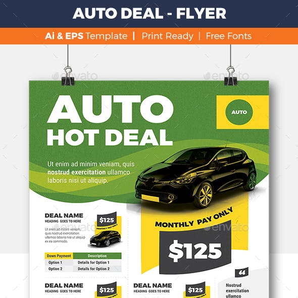 Auto Deal - Flyer Template
