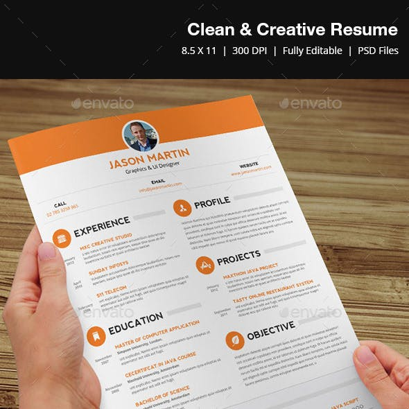 Clean & Creative Resume