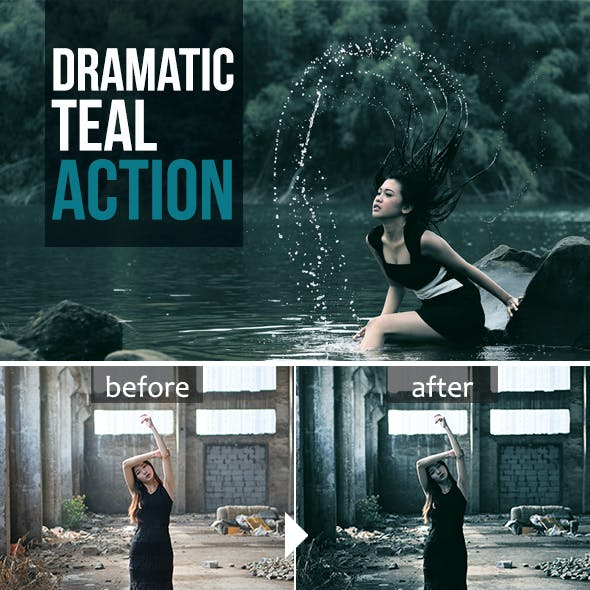 Dramatic Teal Action