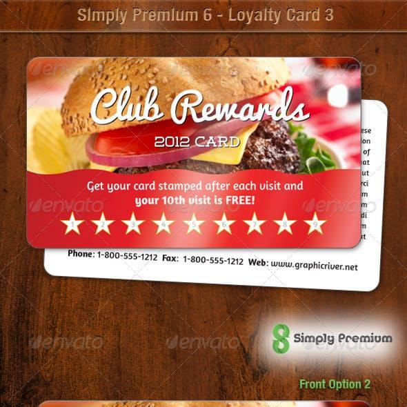 Simply Premium 6 Loyalty Card 3
