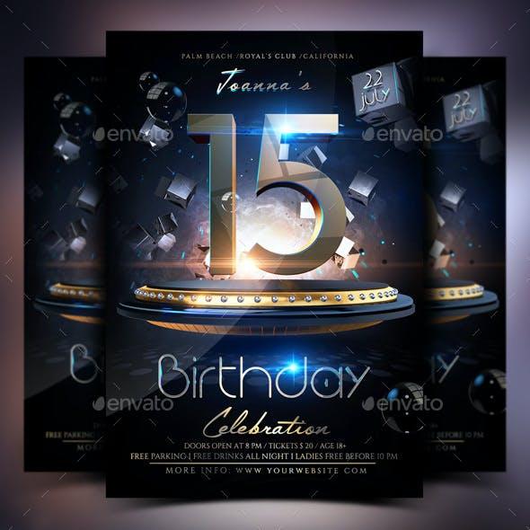 Birthday Celebration Party Flyer