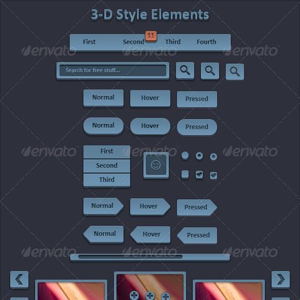3-D Style Elements