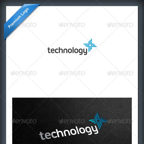 Abstract Tech and Health Logo Template