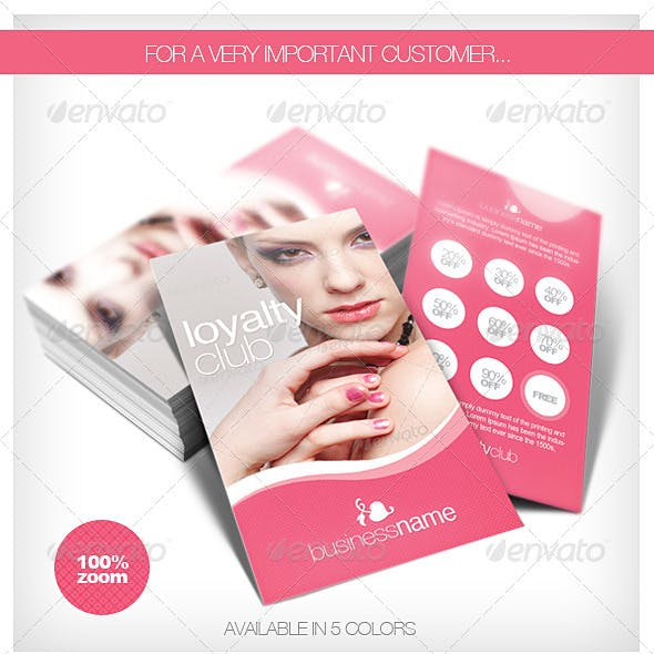 Beauty - Fashion Loyalty Cards