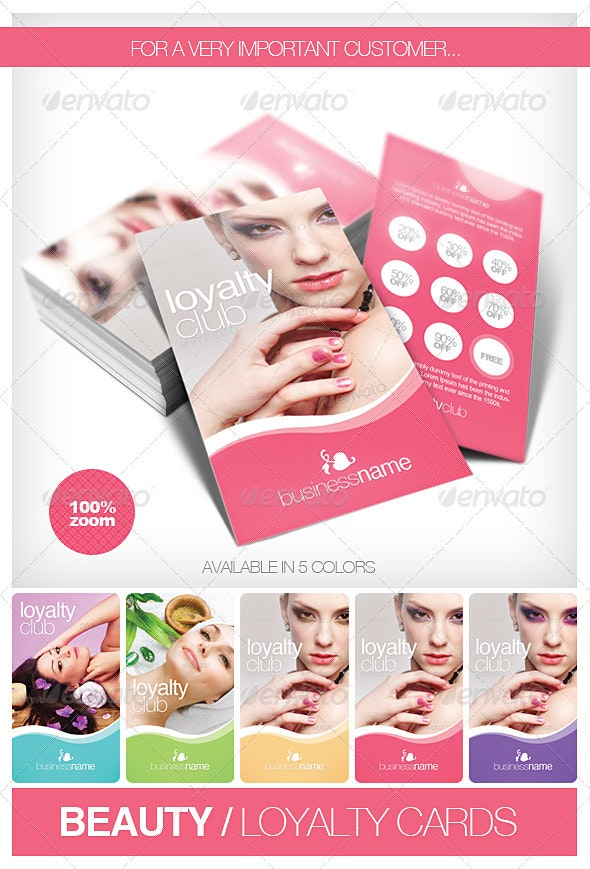 Beauty - Fashion Loyalty Cards - Loyalty Cards Cards & Invites