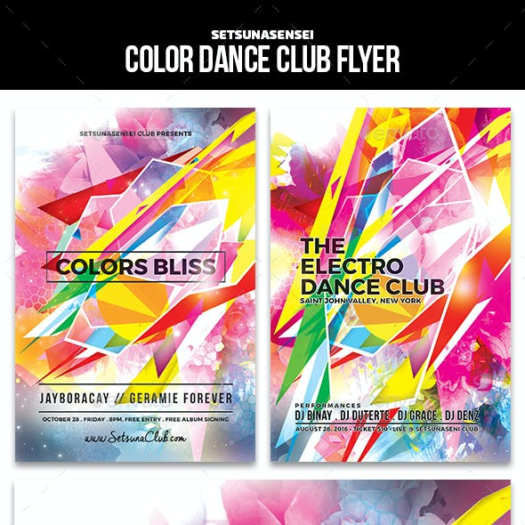 Color Dance Club Flyer