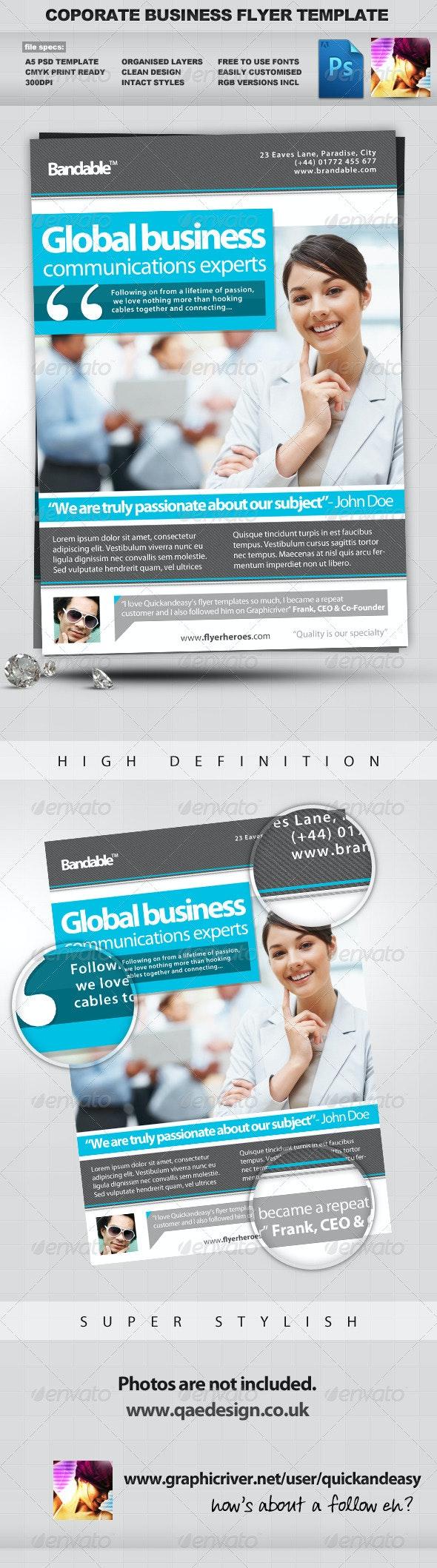 Corporate / Business PSD Flyer Template - Corporate Flyers