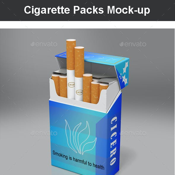 Cigarette Packs Mock-up