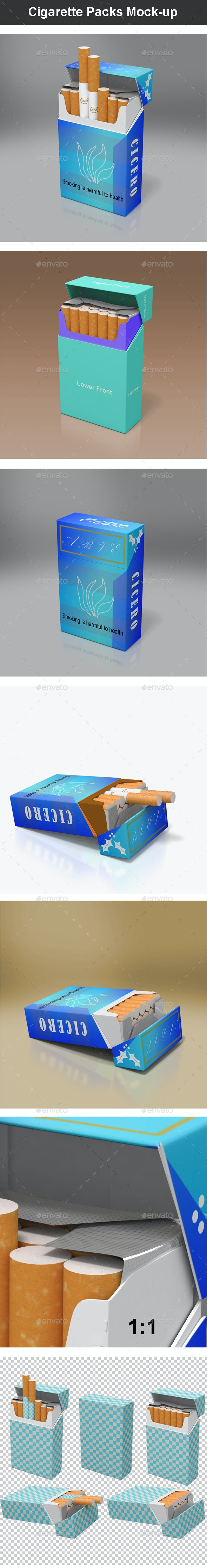 Cigarette Packs Mock-up - Miscellaneous Packaging