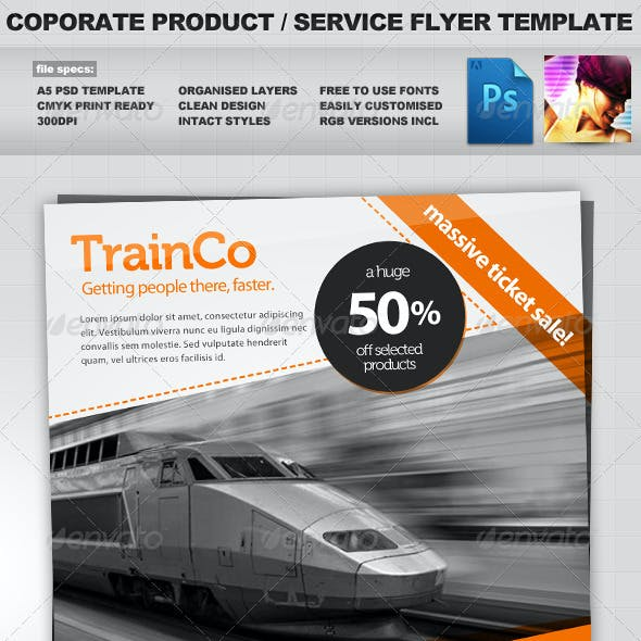 Corporate Product / Service PSD Flyer Template