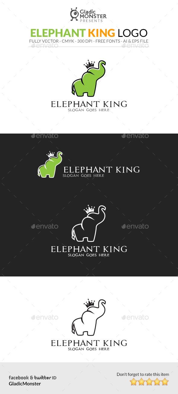 Elephant King Logo - Animals Logo Templates