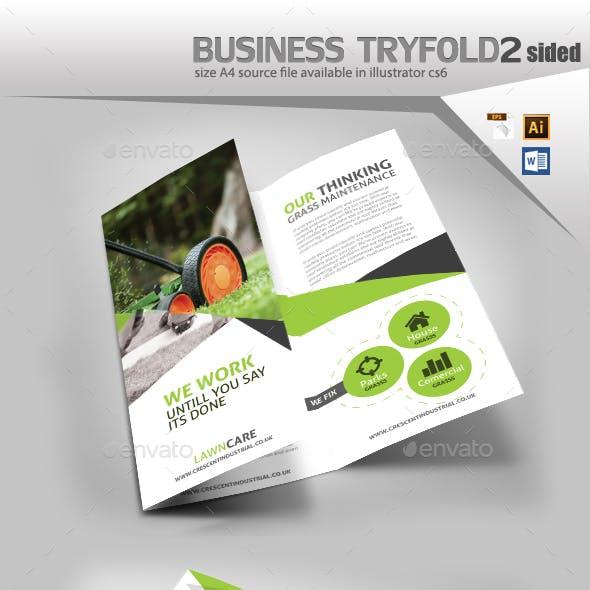 Garden Lawn Care Trifold Brochure