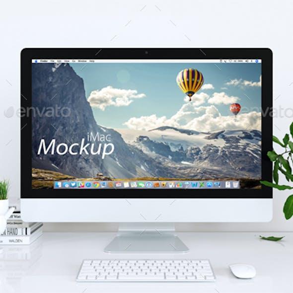 Mock-up Mac in White