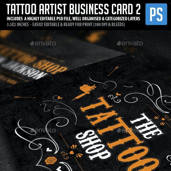 Tattoo Artist Business Cards V.2