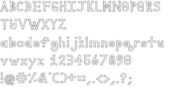 Dymond Speers Outline Font - Gothic Decorative