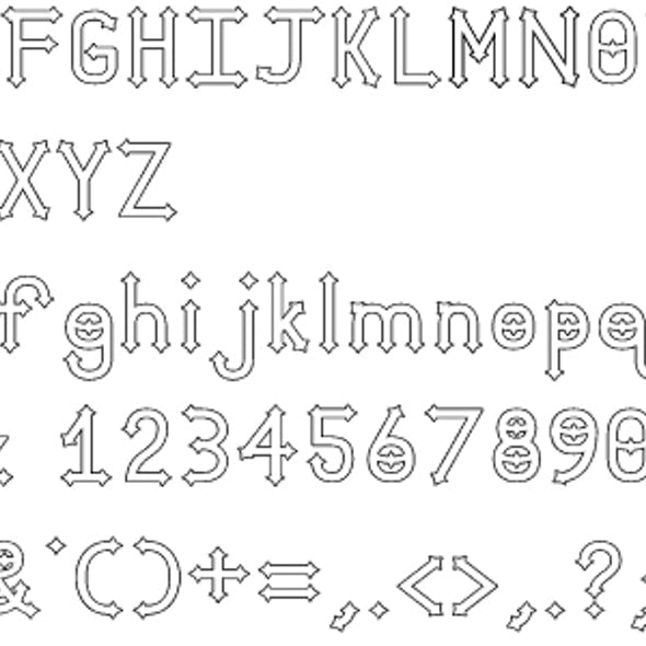 Dymond Speers Outline Font