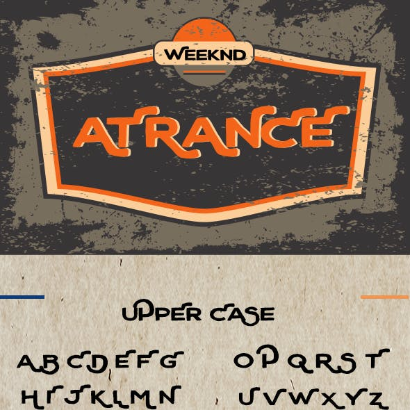 Atrance - Introducing Font