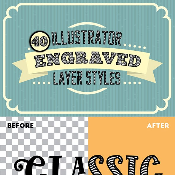 Engraved Vector Text Styles