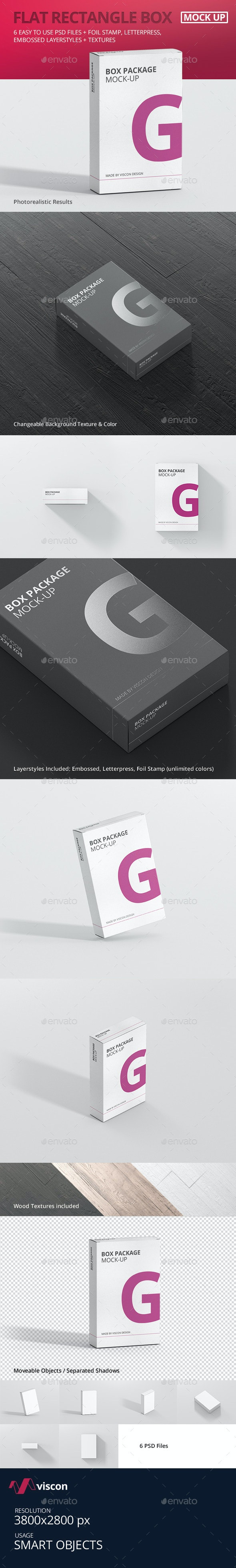 Package Box Mock-Up - Flat Rectangle - Miscellaneous Packaging