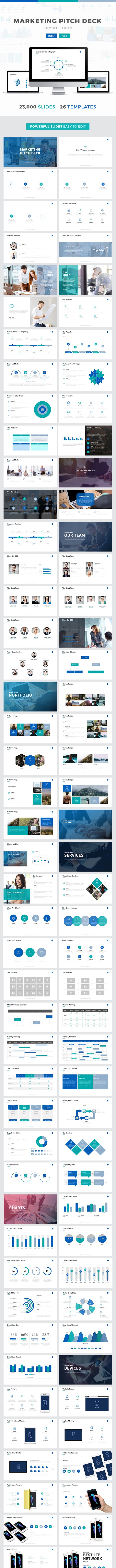 Marketing Pitch Deck Google Slides Template - Google Slides Presentation Templates