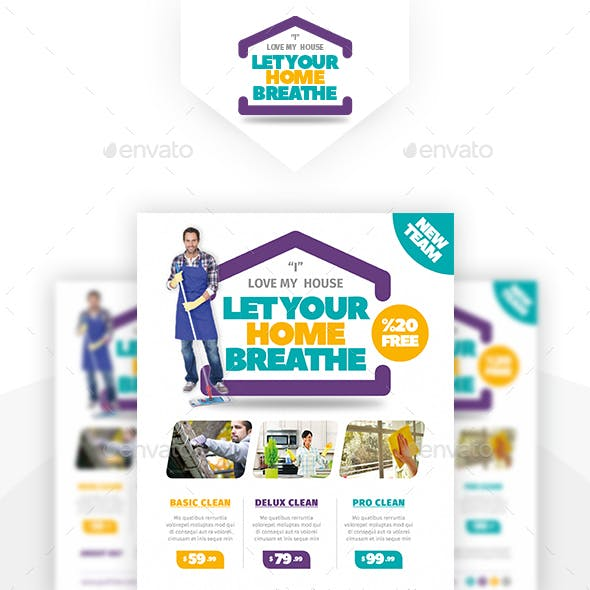 House Cleaning Flyer Templates