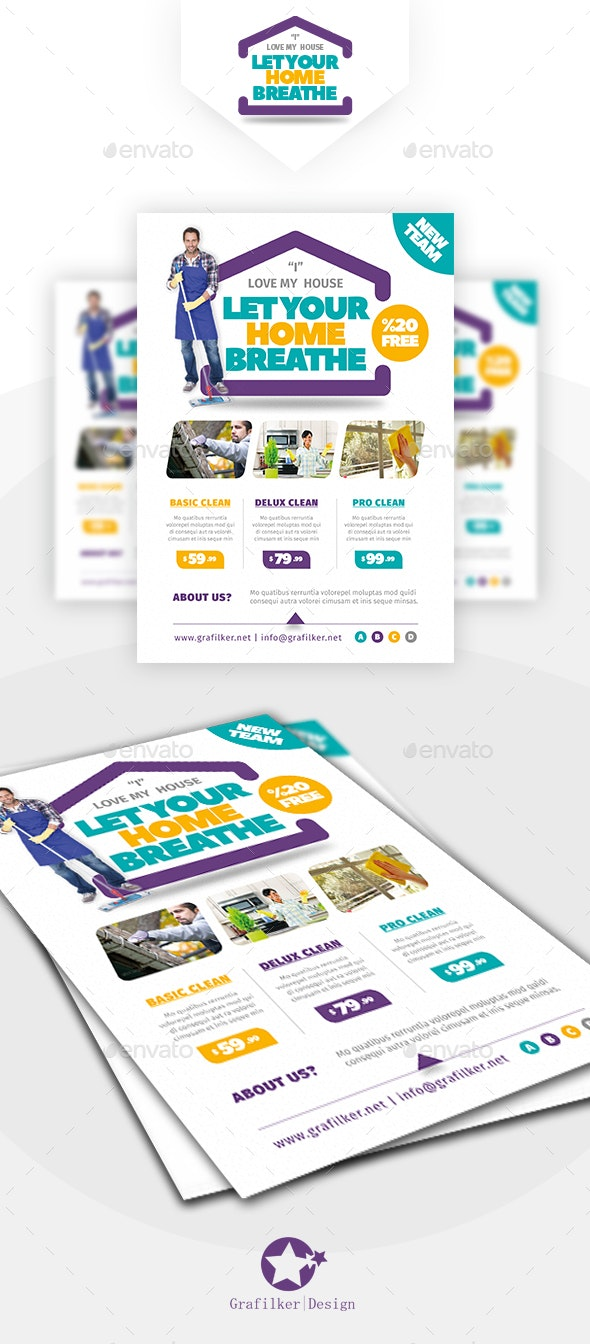 House Cleaning Flyer Templates - Corporate Flyers
