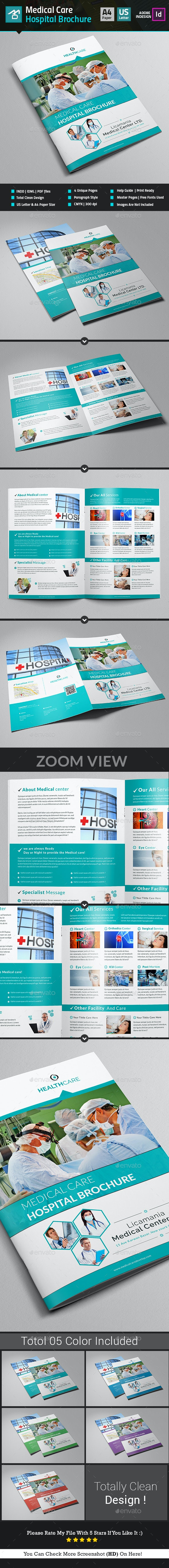 Medical Center / Hospital Brochure Template - Corporate Brochures